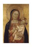 The Virgin and Child Giclée-tryk af Bernardo Daddi