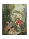 The Seesaw Reproduction procédé giclée par Jean-Honoré Fragonard