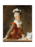 Portrait of the Ballerina Marie-Madeleine Guimard (1743-181) Reproduction procédé giclée par Jean-Honoré Fragonard