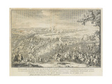 The Battle of Lesnaya Giclee Print by Nicolas de Larmessin