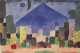 The Mountain Niesen, Egyptian Night Giclée-tryk af Paul Klee