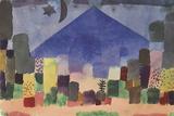 The Mountain Niesen, Egyptian Night Giclee-trykk av Paul Klee