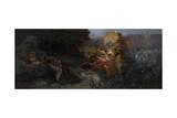 The Temptation of Saint Jerome Giclée-tryk af Henryk Siemiradzki