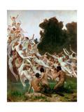 The Oreads (Les Oréade) Reproduction procédé giclée par William-Adolphe Bouguereau