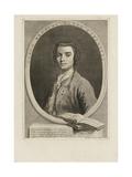 Portrait of the Singer Farinelli (Carlo Brosch) (1705-178), 1735 Giclée-tryk af Jacopo Amigoni