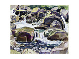 Mountain Stream Near Champéry Giclee Print by Ferdinand Hodler