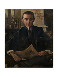 Portrait of Wolfgang Gurlitt Gicléetryck av Lovis Corinth