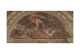 David Slaying Goliath (Loggia Di David) Giclee Print by Giulio Romano