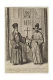 Matteo Ricci and Xu Guangqi (From Athanasius Kircher's China Illustrat), 1667 Giclee Print by Athanasius Kircher