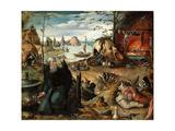The Temptation of Saint Anthony Giclée-Druck von Jan Mandyn