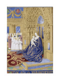 The Virgin and Child Enthroned (Hours of Étienne Chevalie) Giclee Print by Jean Fouquet