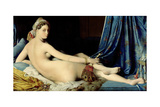 La Grande Odalisque Reproduction procédé giclée par Jean-Auguste-Dominique Ingres