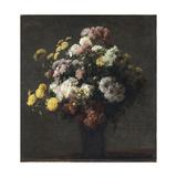 Vase with Chrysanthemums Reproduction procédé giclée par Henri Fantin-Latour