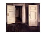 Open Doors Giclée-tryk af Vilhelm Hammershoi