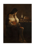 The Repentant Mary Magdalene Giclee Print by Georges de La Tour
