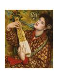 A Christmas Carol Gicléedruk van Dante Gabriel Rossetti