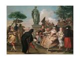 The Minuet Giclée-tryk af Giandomenico Tiepolo