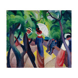 Promenade Giclee Print by August Macke