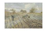 Hoarfrost (Gelée Blanch) Reproduction procédé giclée par Camille Pissarro