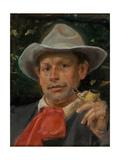 Portrait of Martin Andersen Nexo Gicléetryck av Michael Ancher