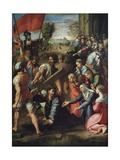 Le Christ portant la croix Reproduction procédé giclée par  Raphael