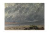 Scène de plage Reproduction procédé giclée par Gustave Courbet