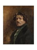 Auto-portrait Reproduction procédé giclée par Eugene Delacroix