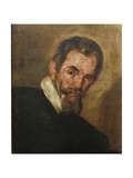 Portrait of the Composer Claudio Monteverdi (1567-164) Stampa giclée di Bernardo Strozzi