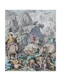 Hannibal Crosses the Alps (From Münchener Bilderboge) Giclee-trykk av Gottlob Heinrich Leutemann