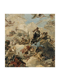 The Apotheosis of Hercules Giclée-tryk af Giandomenico Tiepolo
