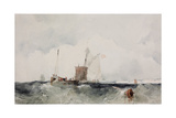 At the English Coast Giclee Print by Richard Parkes Bonington
