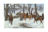 General Count Iosif Gurko in the Balkans Giclee Print by Pavel Osipovich Kovalevsky