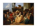 Carnival Scene (The Minue) Giclée-tryk af Giandomenico Tiepolo