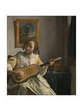 The Guitar Player Lámina giclée por Johannes Vermeer