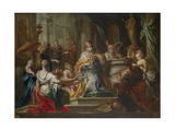 The Idolatry of King Solomon Giclée-tryk af Sebastiano Conca
