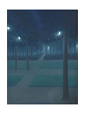 Nocturne in the Parc Royal, Brussels Reproduction procédé giclée par William Degouve De Nuncques