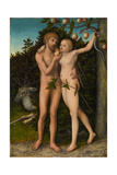 The Fall of Man, after 1537 Giclee Print by Lucas Cranach the Elder
