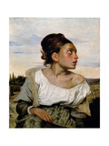 Young Orphan Girl in the Cemetery Giclee Print by Eugene Delacroix