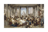 Romans During the Decadence, 1847 Giclée-tryk af Thomas Couture