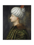 Sultan Suleiman I the Magnificent Giclée-tryk af  Titian (Tiziano Vecelli)