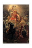 Thor's Fight with the Giants Giclee Print by Marten Eskil Winge