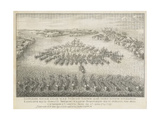 The Naval Battle of Gangut on July 27, 1714 Giclee Print by Nicolas de Larmessin