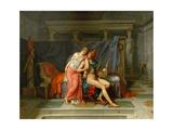 The Loves of Helen and Paris Gicléedruk van Jacques Louis David