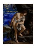 David with the Head of Goliath Giclée-tryk af Orazio Gentileschi