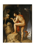 Oedipus and the Sphinx Giclée-tryk af Jean-Auguste-Dominique Ingres