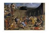Roman Gladiators Giclee Print by Giovanni Francesco Romanelli