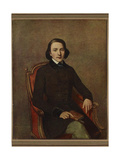 Portrait of Victor Hugo (1802-188) Giclee Print by Paul Gavarni