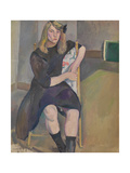 Seated Girl Giclee Print by Jules Pascin