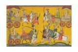 Vishnu Procession, C. 1755 Giclée-tryk