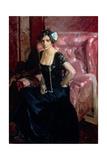 Clotilde in an Evening Dress Giclee Print by Joaquín Sorolla y Bastida